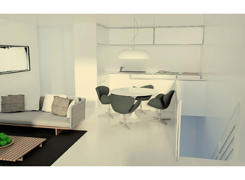 Interiors appartamento su due livelli for Seminterrato su due livelli